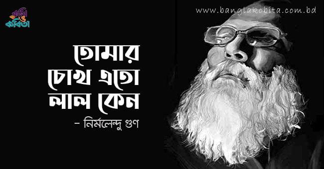 তোমার চোখ এতো লাল কেন - নির্মলেন্দু গুণ