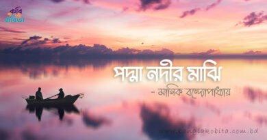 পদ্মা নদীর মাঝি - মানিক বন্দ্যোপাধ্যায়
